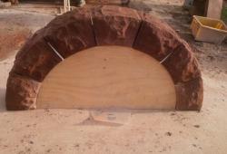 Red sandstone garden arch Helsby Cheshire 4