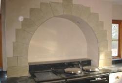 Sandstone kitchen arch above Arga Chester Cheshire 1