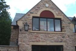 Sandstone window arch Ruthin Denbighshire 1