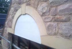 Sandstone window arch Ruthin Denbighshire 2