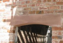 Sandstone window Arched Lintel in Carden Cheshire