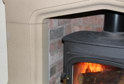 Chester stone fireplace arch