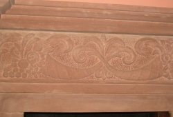 Hand carved sandstone fireplace surround Cheshire 2