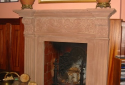 Hand carved sandstone fireplace surround Cheshire 4