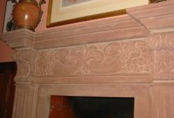 Hand carved sandstone fireplace surround Cheshire 5