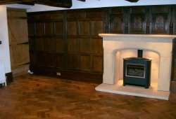 Sandstone fireplace in Rossett Wrexham